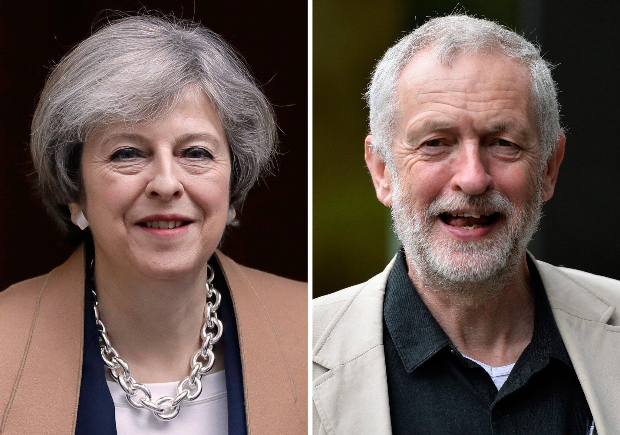 Bild zu Theresa May und Jeremy Corbyn