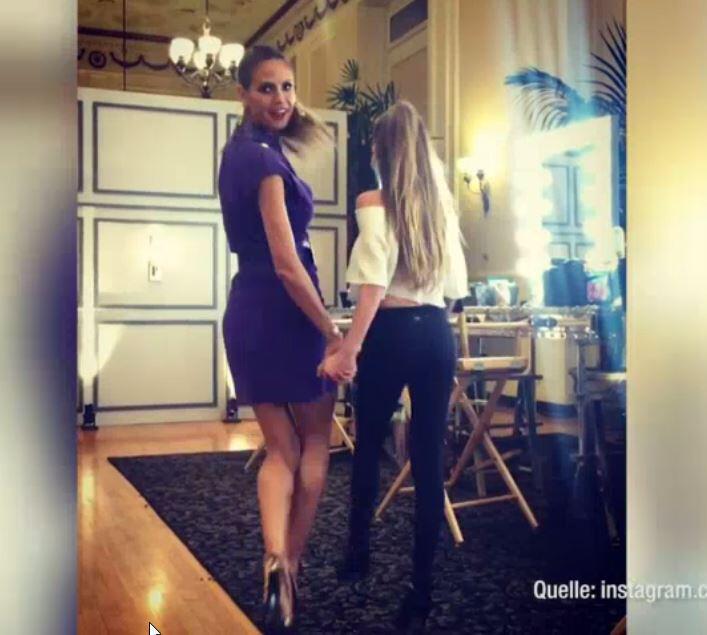 Bild zu Heidi Klum nimmt Tochter mit zur Arbeit