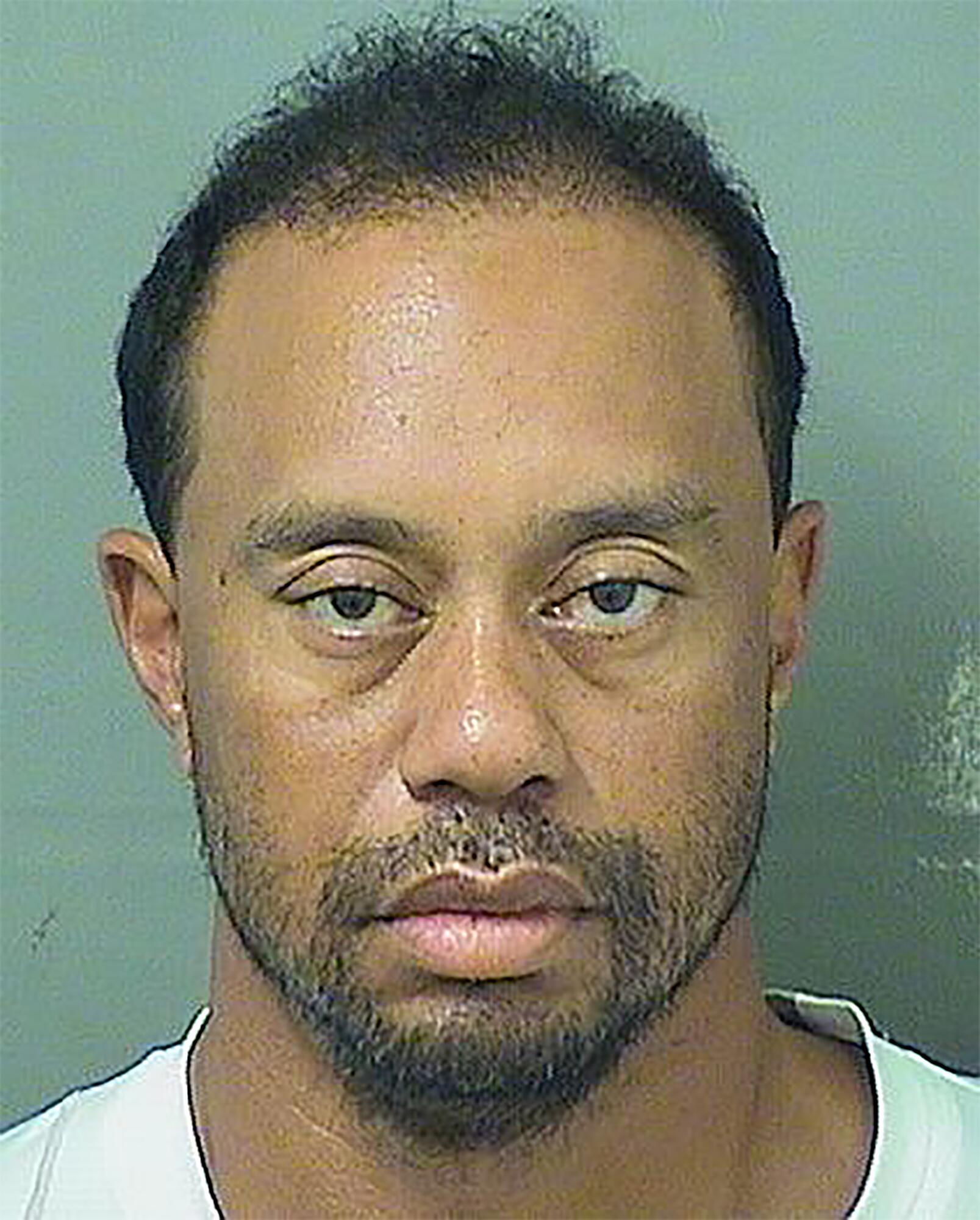 Bild zu Tiger Woods, Festnahme, Polizei, Polizeifoto, Palm Beach, Jupiter, Florida, USA, Drogen