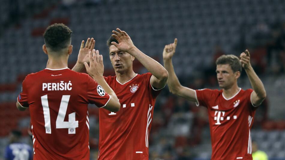 FC Bayern München mit Robert Lewandowski im Spiel gegen den FC Chelsea