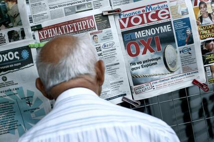 Zeitungswand