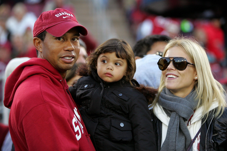 Bild zu Tiger Woods, Sam Woods, Elin Nordegren, Cardinal, Palo Alto, Kalifornien, California Bears, Football