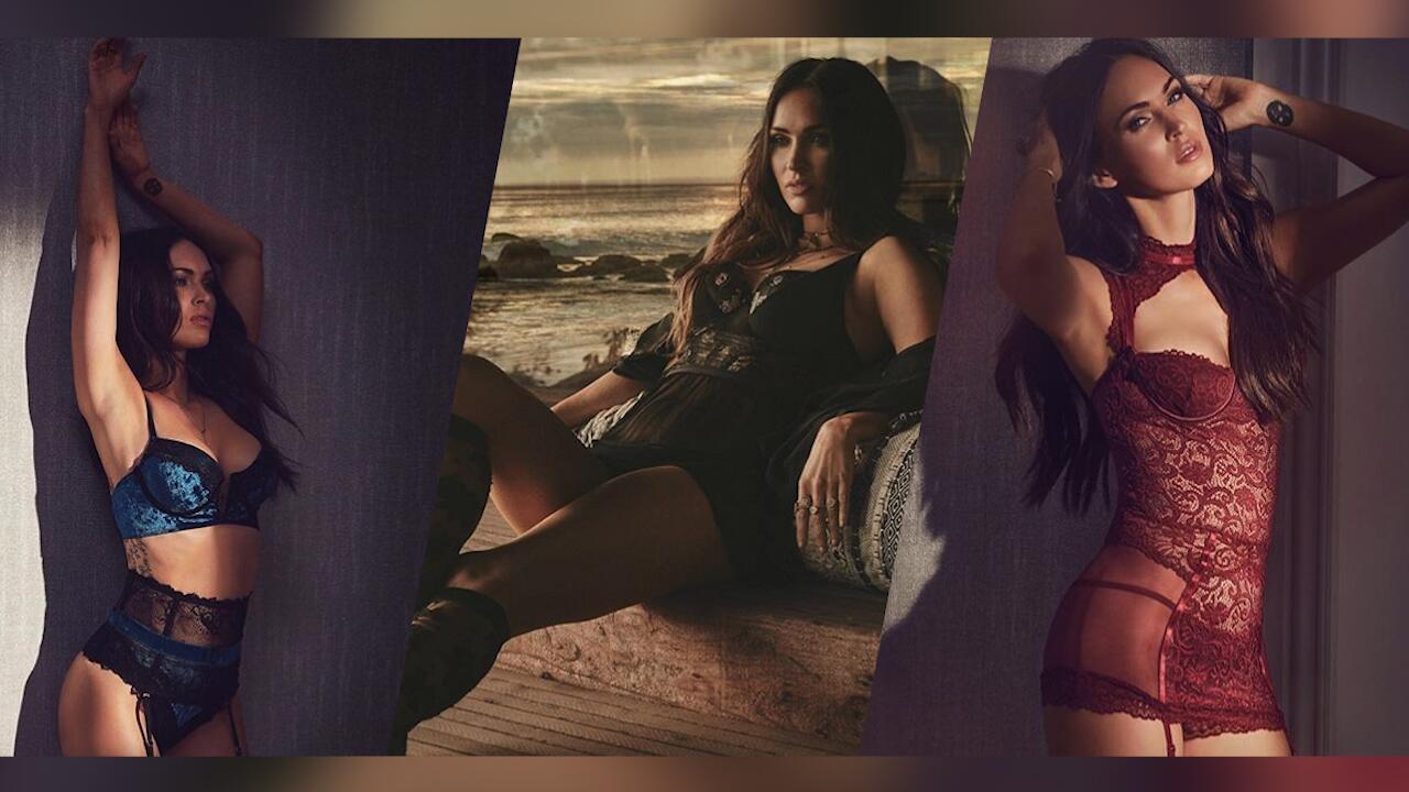 Bild zu Meghan Fox heizt in sexy Unterwäsche ein
