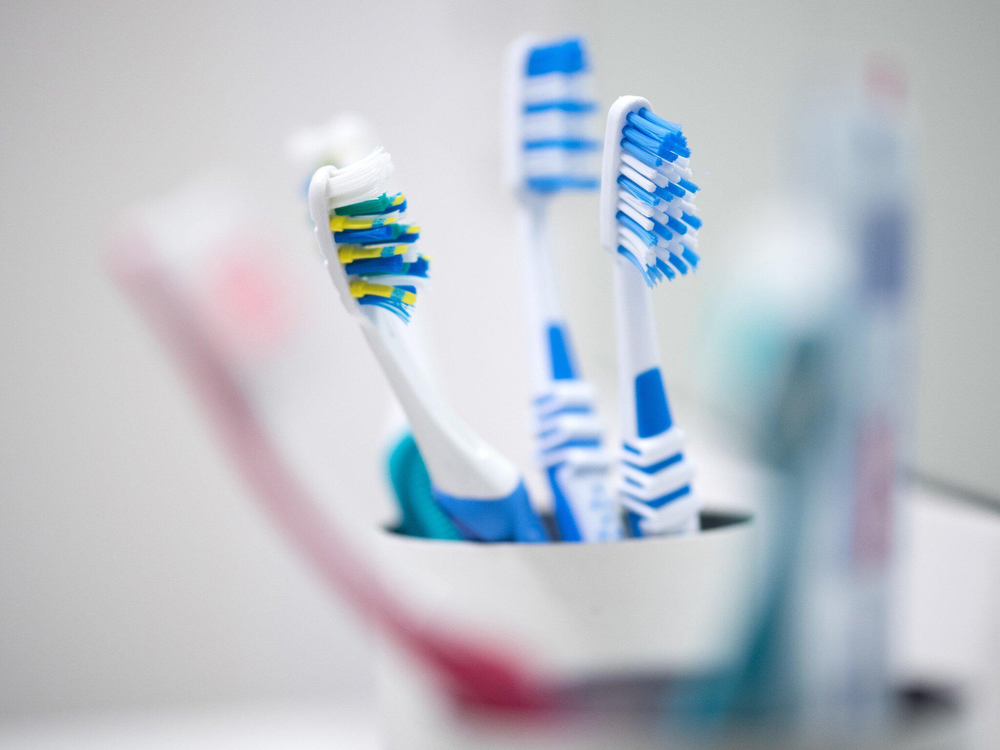Bild zu Zahnbürsten im Becher