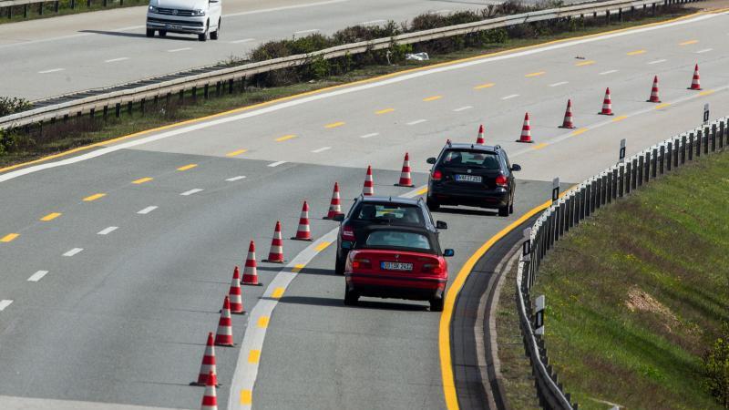 Baustelle auf Ostseeautobahn