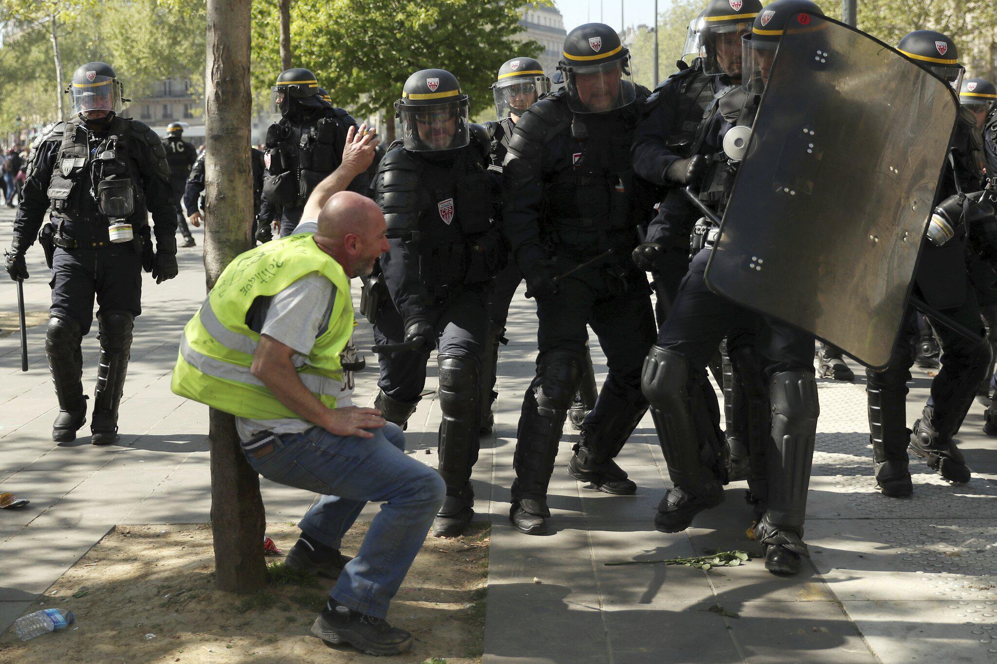 Bild zu «Gelbwesten»-Proteste in Frankreich