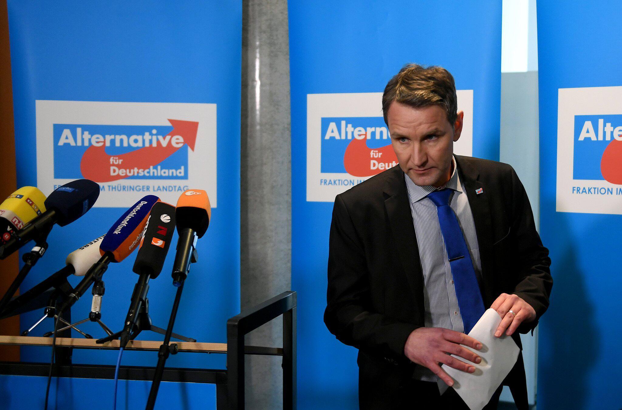 Bild zu Press conference with Bjoern Hoecke