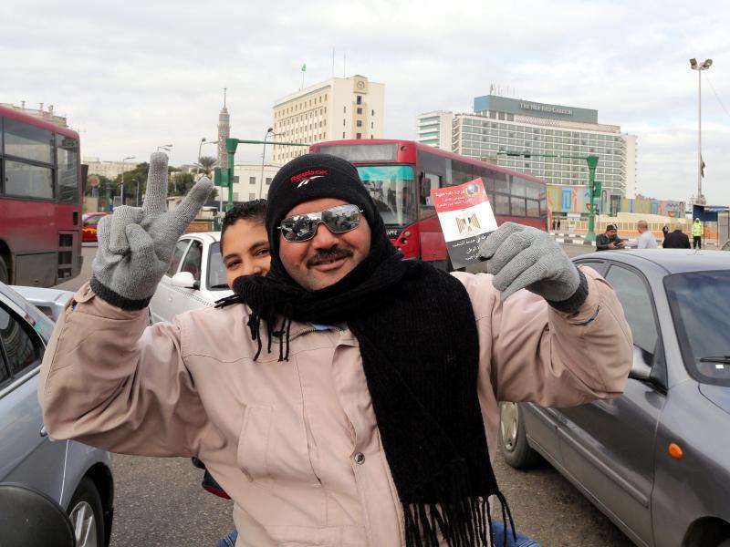 Bild zu Feiernde in Kairo