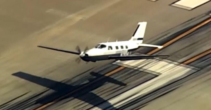 Bild zu Kleinflugzeug, Landung, Landebahn, Notlandung