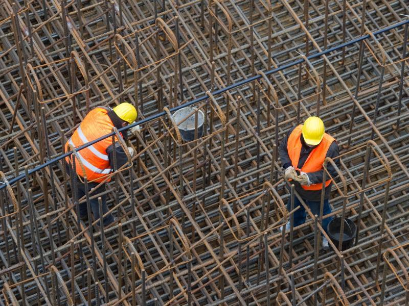 Bild zu Arbeiter auf dem Bau