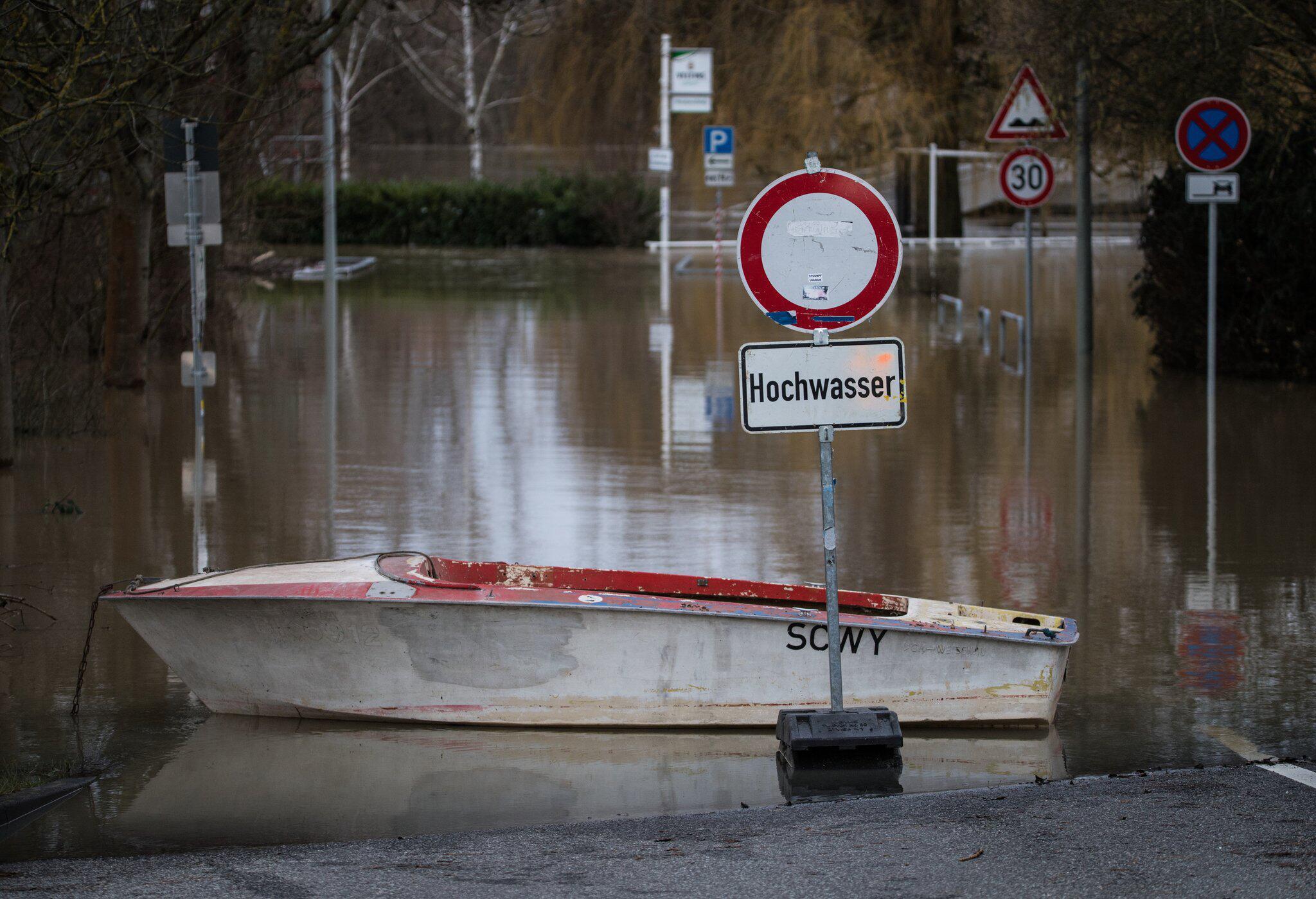 Bild zu Hochwasser am Rhein