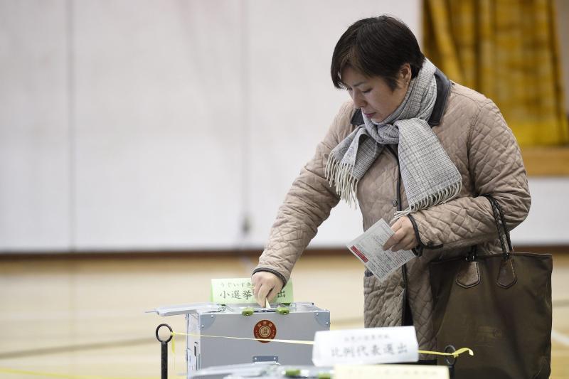 Stimmabgabe im Tokio