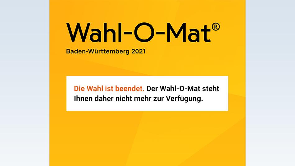 Die Wahl in Baden-Württemberg 2021 ist beendet.