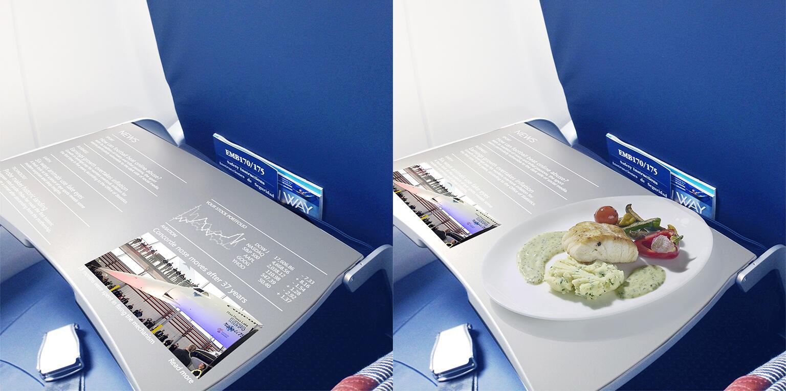 Bild zu Flugzeugtisch