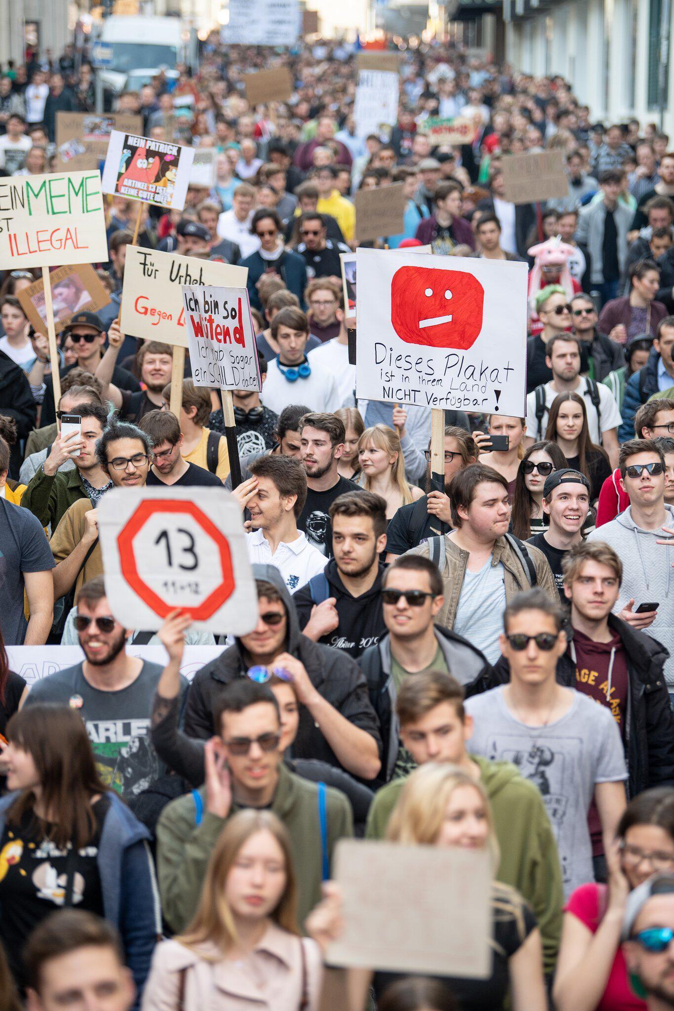 Bild zu Protest gegen neues Urheberrecht - Stuttgart