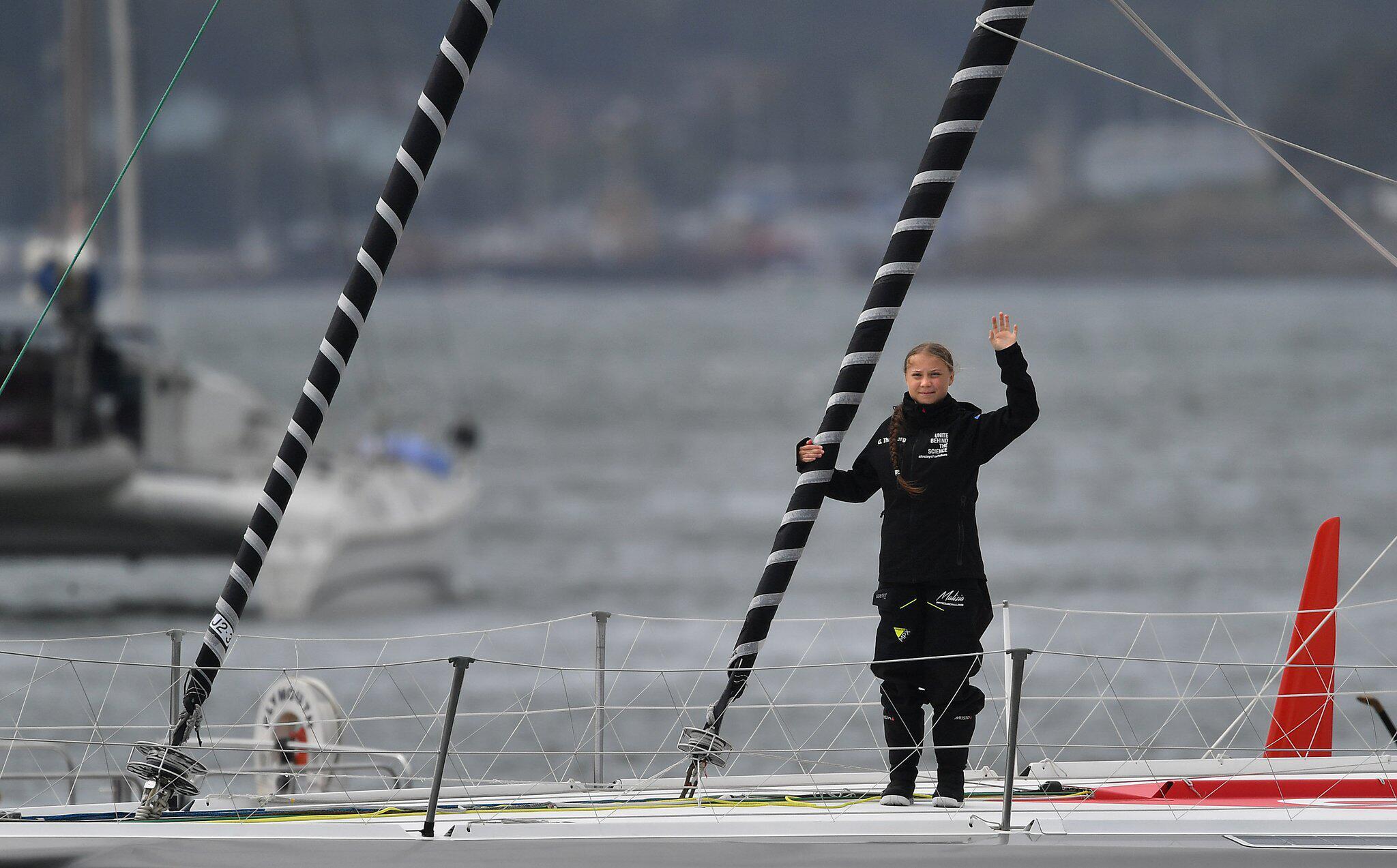 Bild zu Vor Atlantiküberquerung von Klimaaktivistin Thunberg