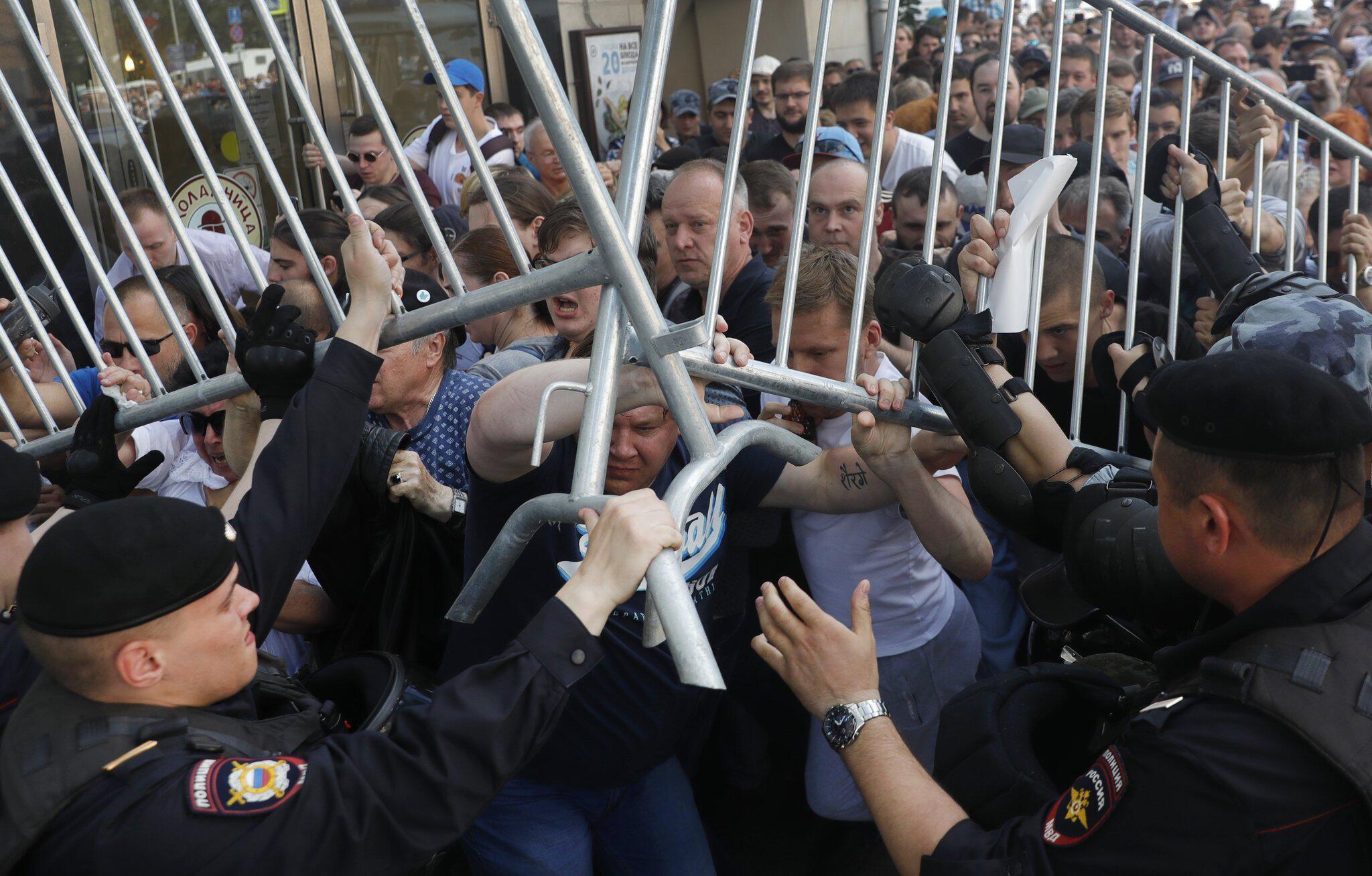 Bild zu Protest gegen Wahlausschluss inMoskau
