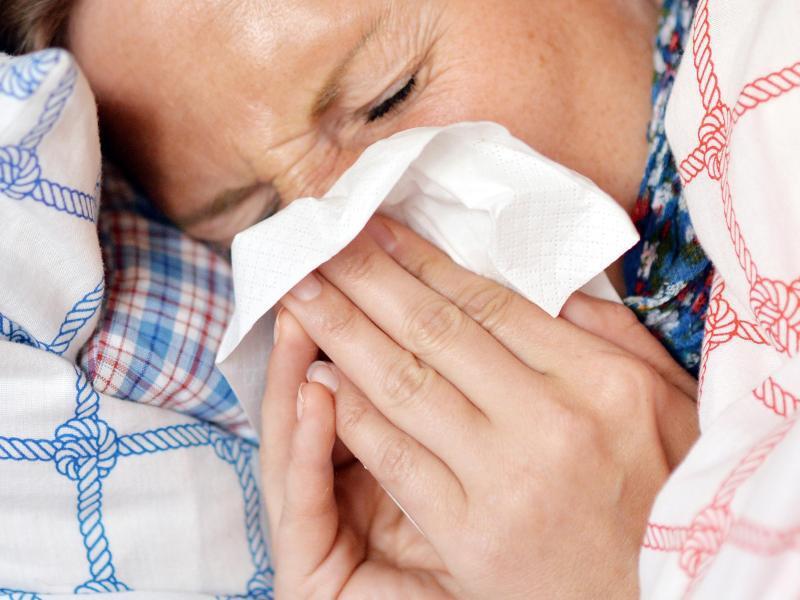 Bild zu Grippe-Patientin