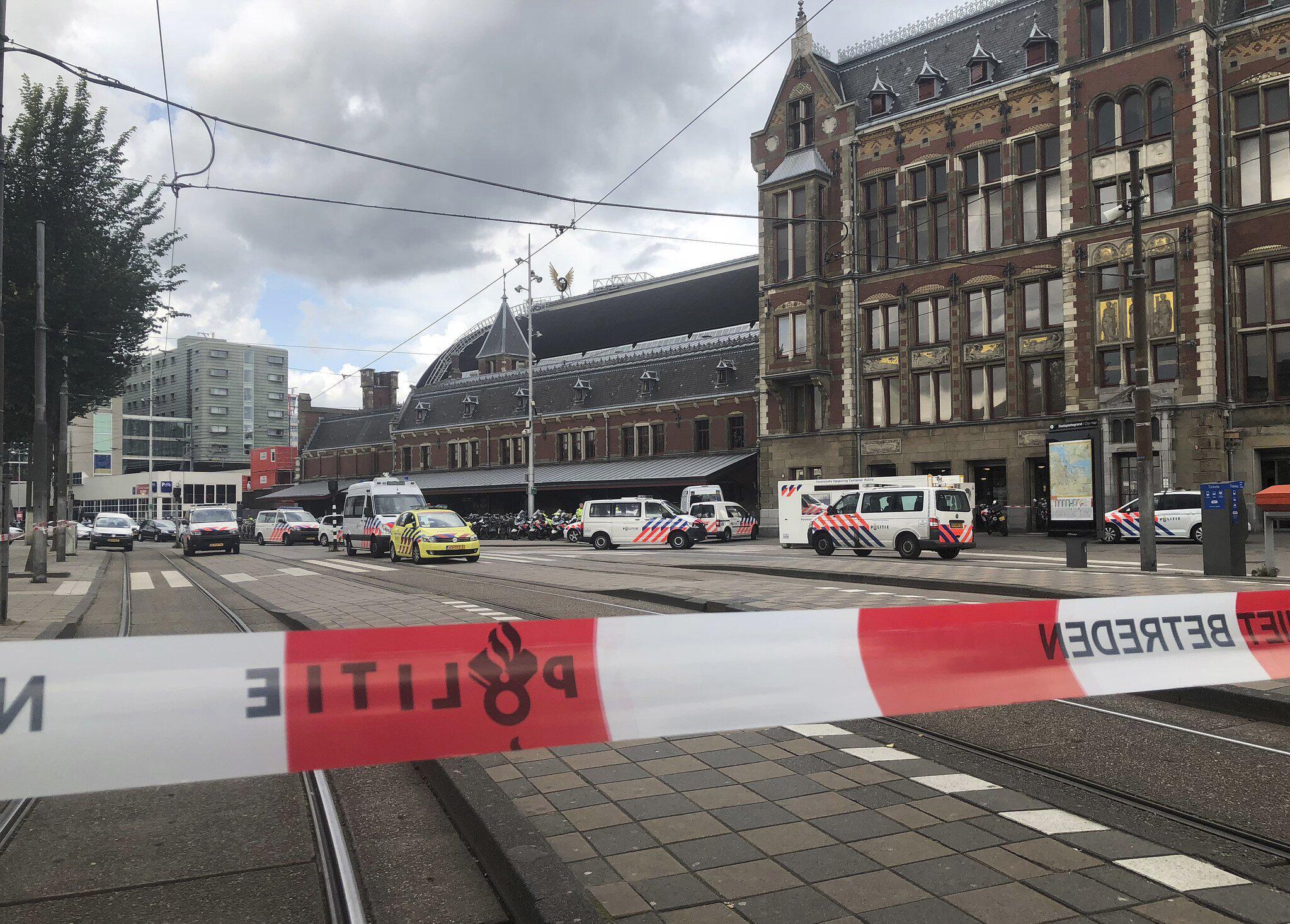Bild zu Polizeieinsatz am Bahnhof von Amsterdam