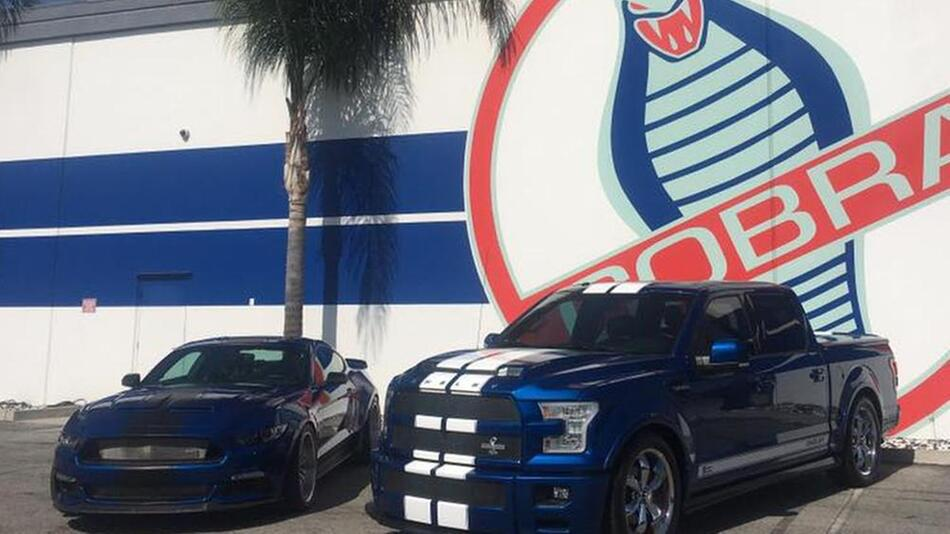 Shelby Mustang und Ford F-150 Super Snake