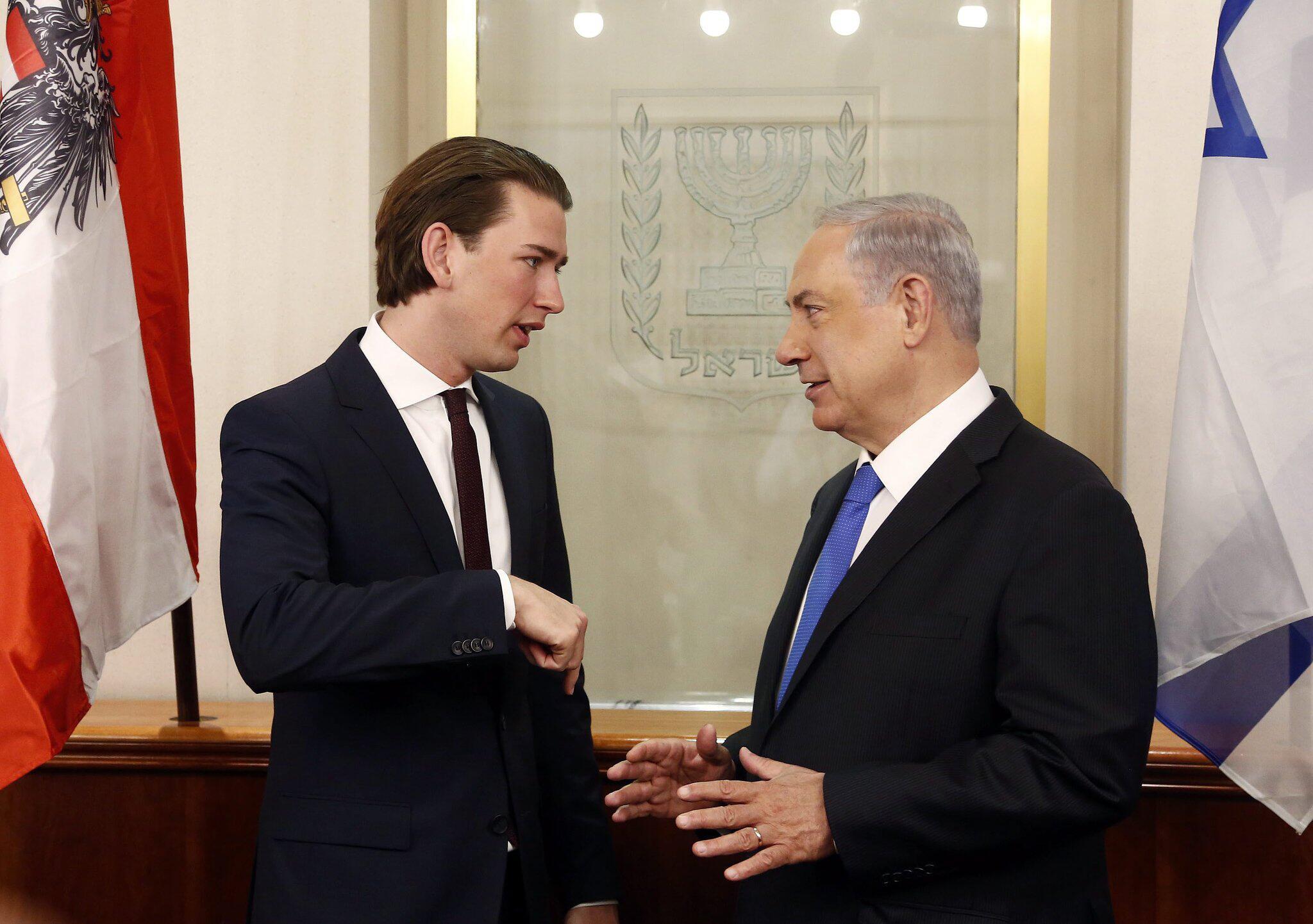 Bild zu Sebastian Kurz und Benjamin Netanjahu