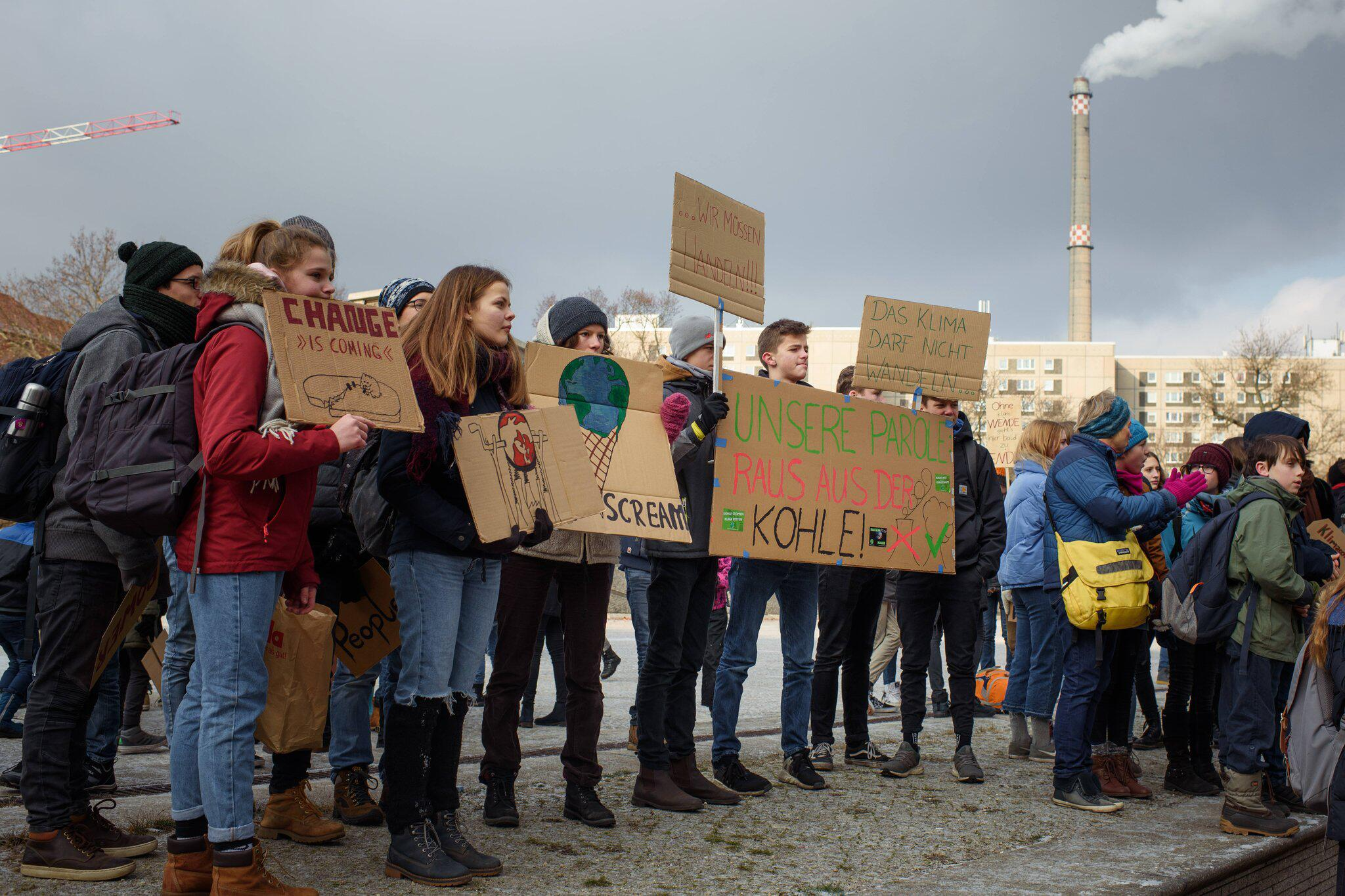 Bild zu Schülerdemo für Kohleausstieg