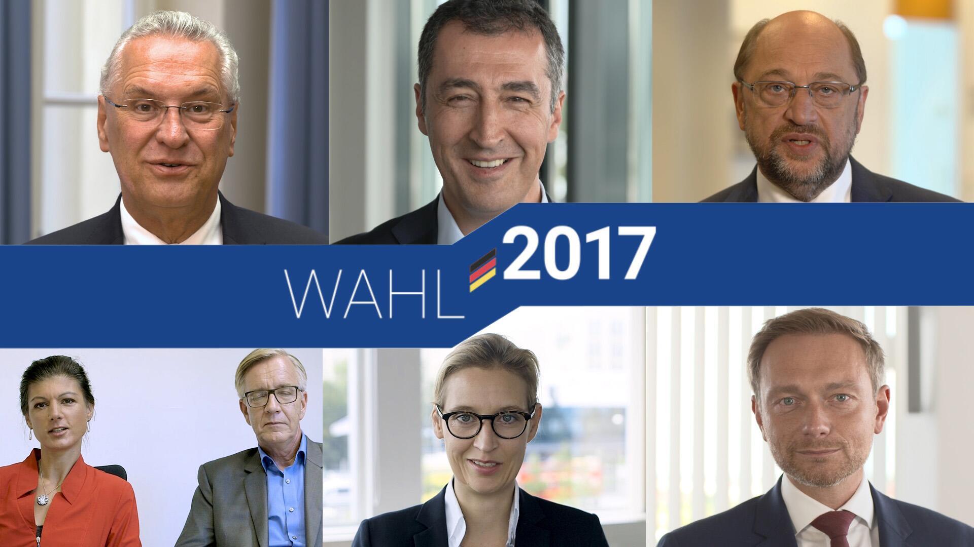 Bild zu Bundestagswahl, Martin Schulz, Alice Weidel