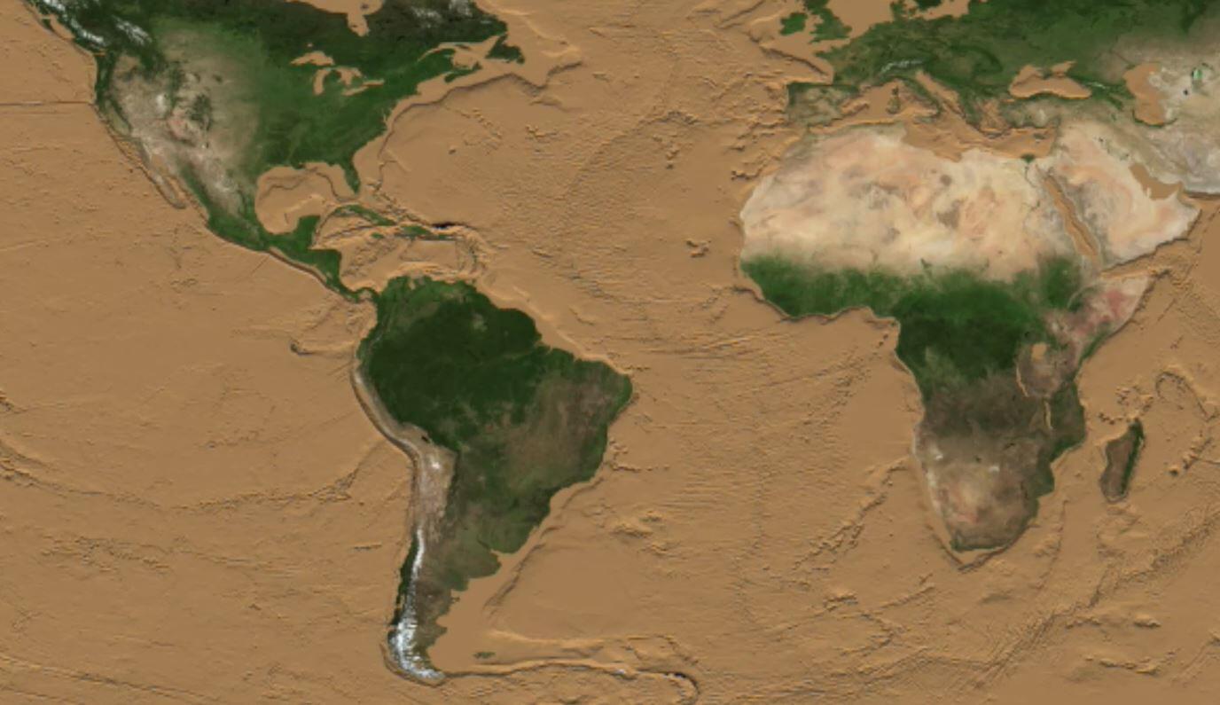 Bild zu NASA, Simulation, Welt ohne Meere