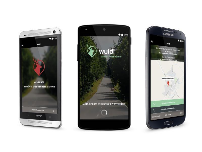 Bild zu Wildwarner-App