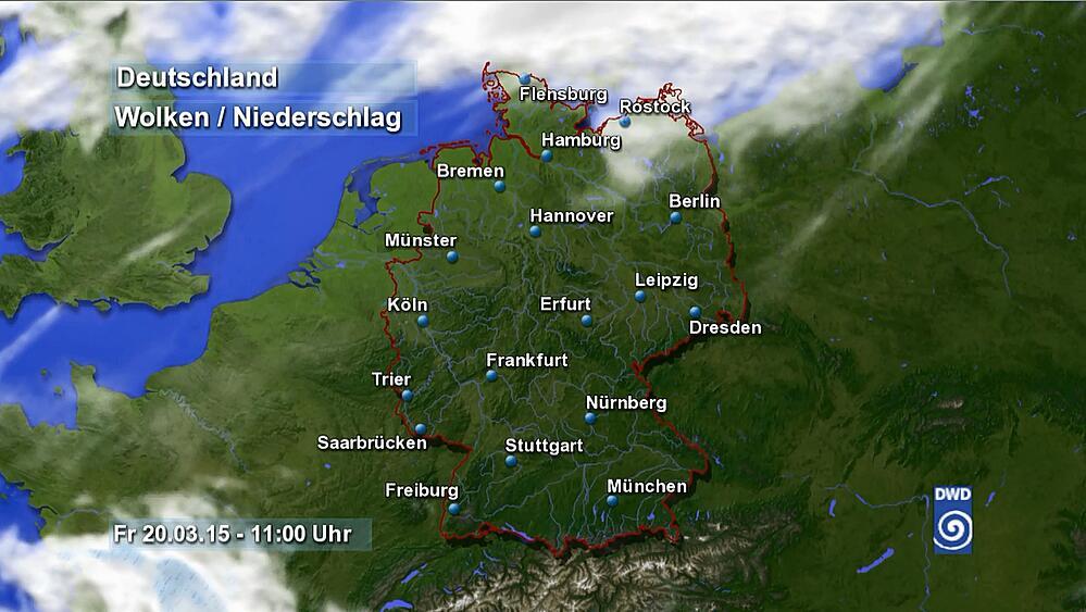 Bild zu Wettervorhersage Sonnenfinsternis Deutschland
