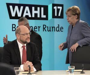 Bundestagswahl 2017 Elefantenrunde Angela Merkel Martin Schulz