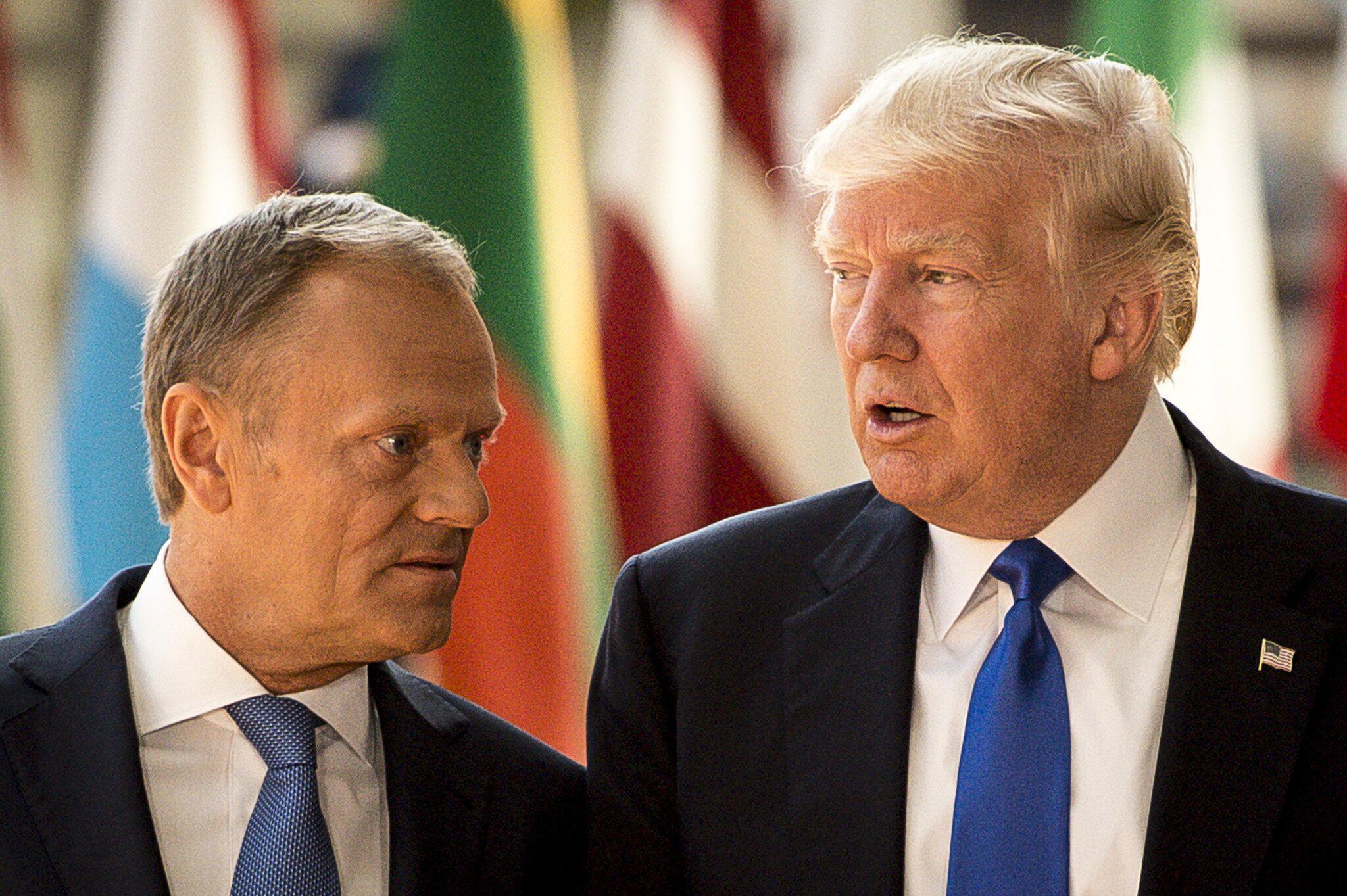 Bild zu Tusk und Trump