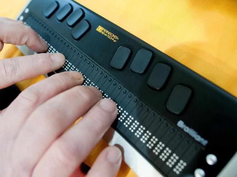 Bild zu Arbeiten mit einer Braillezeile
