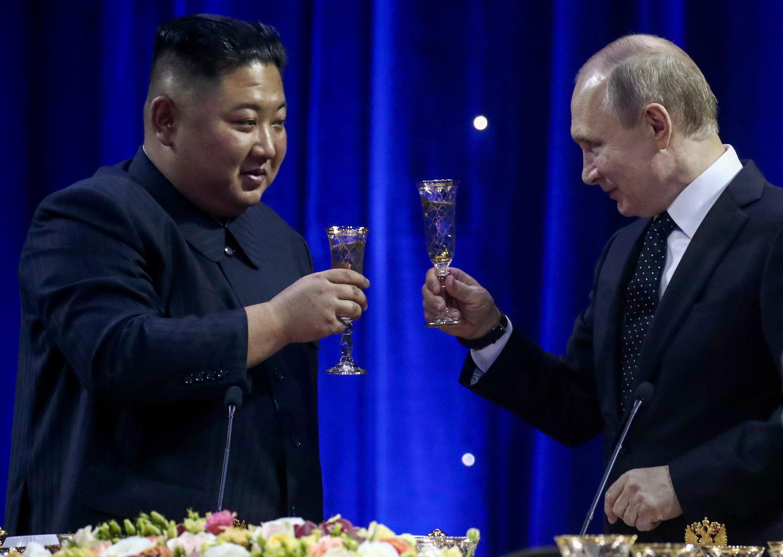 Bild zu Wladimir Putin Kim Jong Un