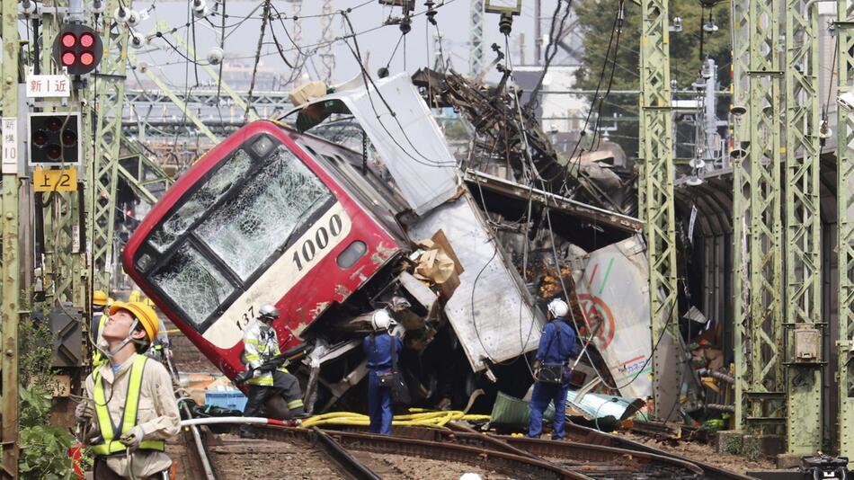 Zugunglück in Japan