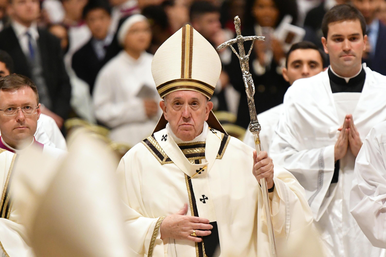 Bild zu Weihnachtsfeier mit Papst Franziskus