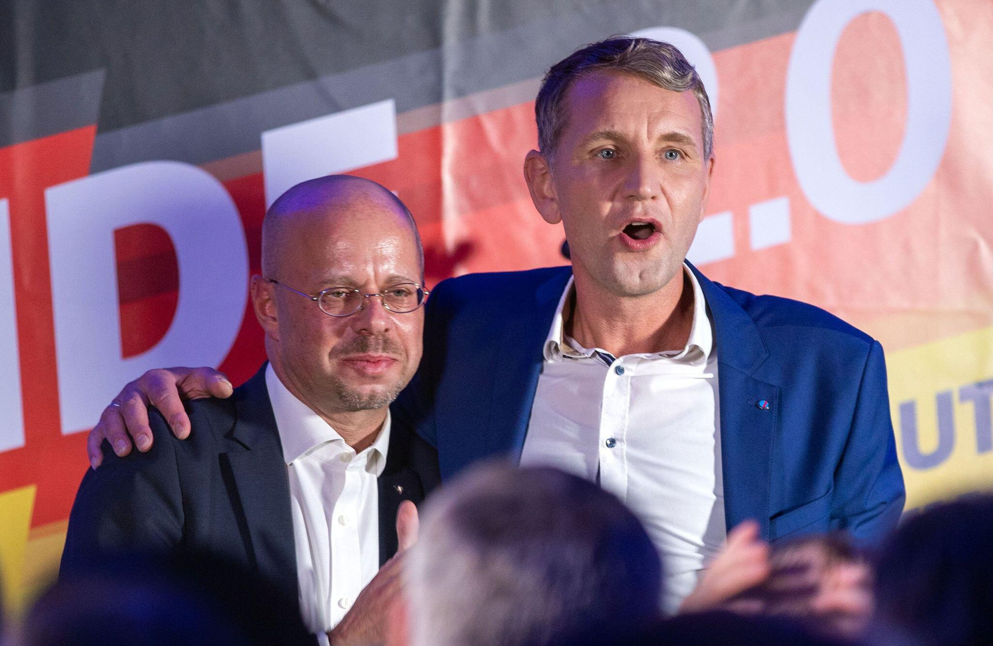 Bild zu Andreas Kalbitz und Björn Höcke