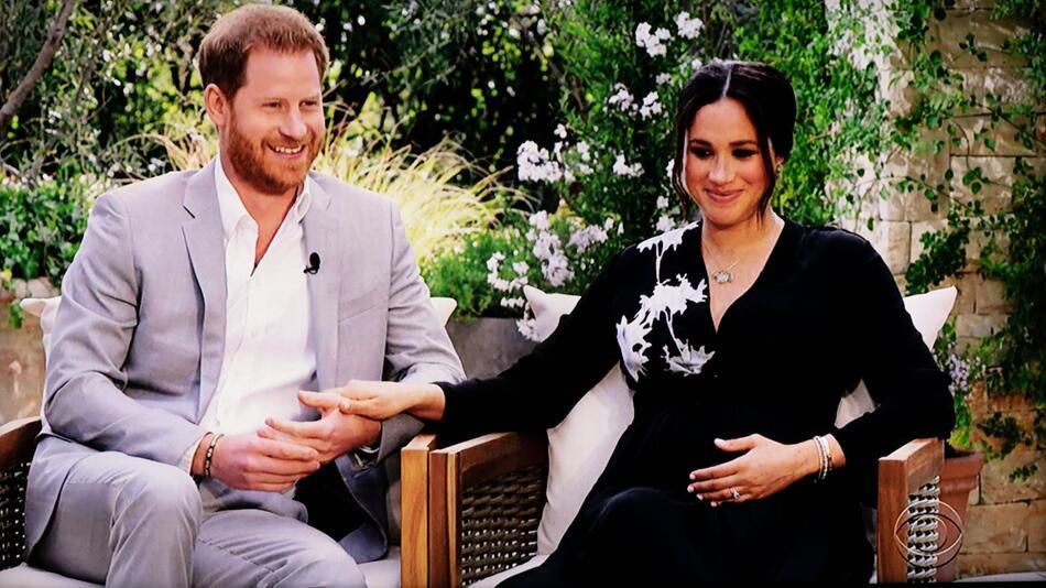 Harry und Meghan während des vieldiskutierten Interviews mit Oprah Winfrey.