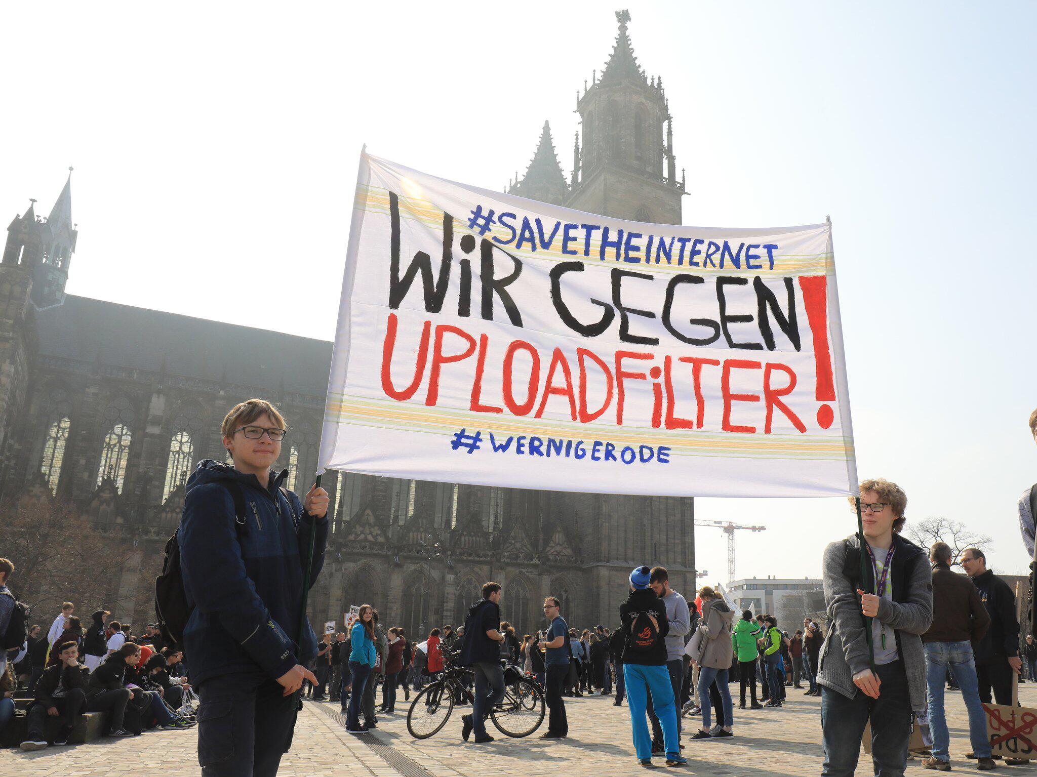Bild zu Protest gegen neues Urheberrecht - Magdeburg