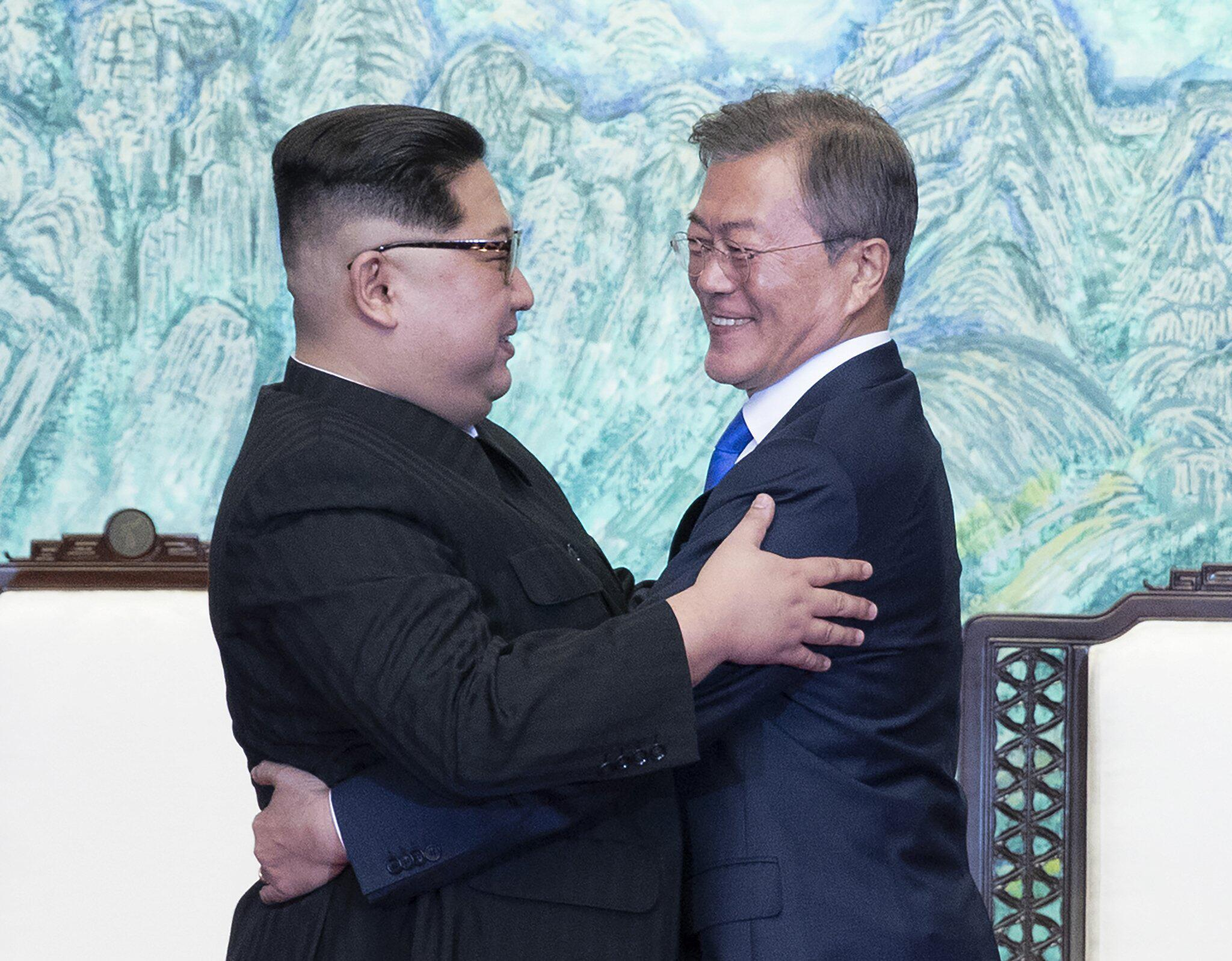 Bild zu Historischer Korea-Gipfel: Moon empfängt Kim