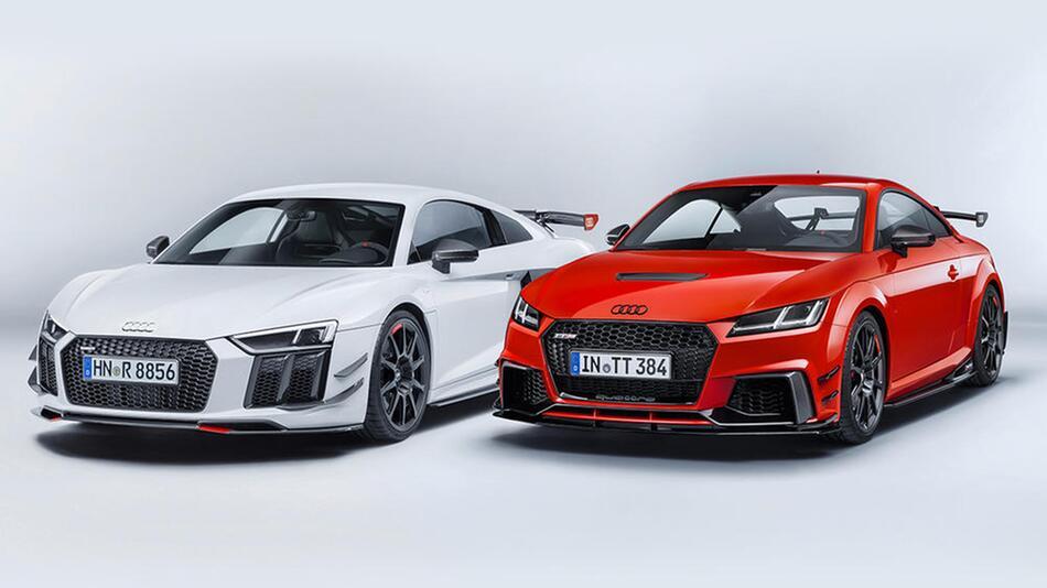 Audi R8 und Audi TT mit Audi Sport Performance Parts