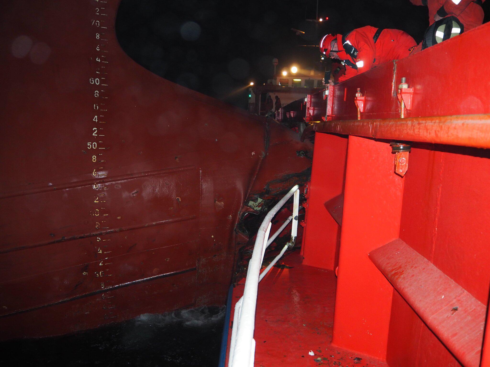 Bild zu Zwei Schiffe kollidieren nordwestlich von Borkum