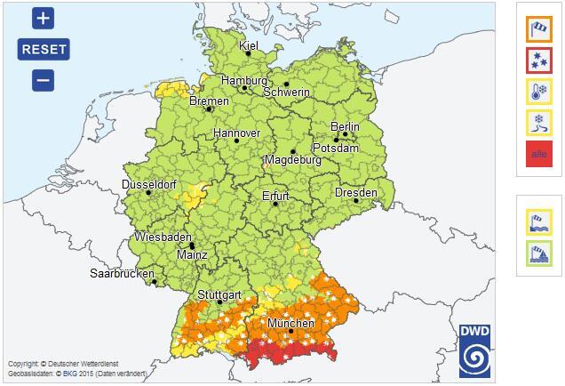 Bild zu Wetterkarte