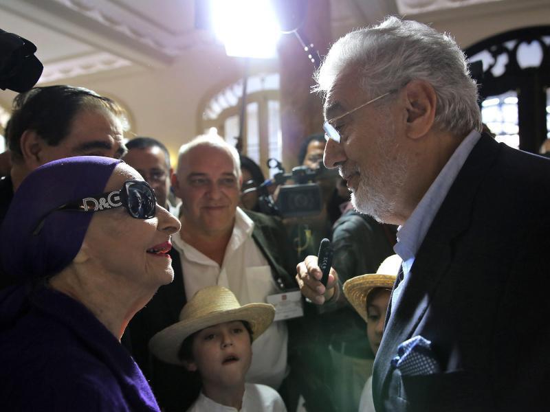 Bild zu Plácido Domingo und Alicia Alonso