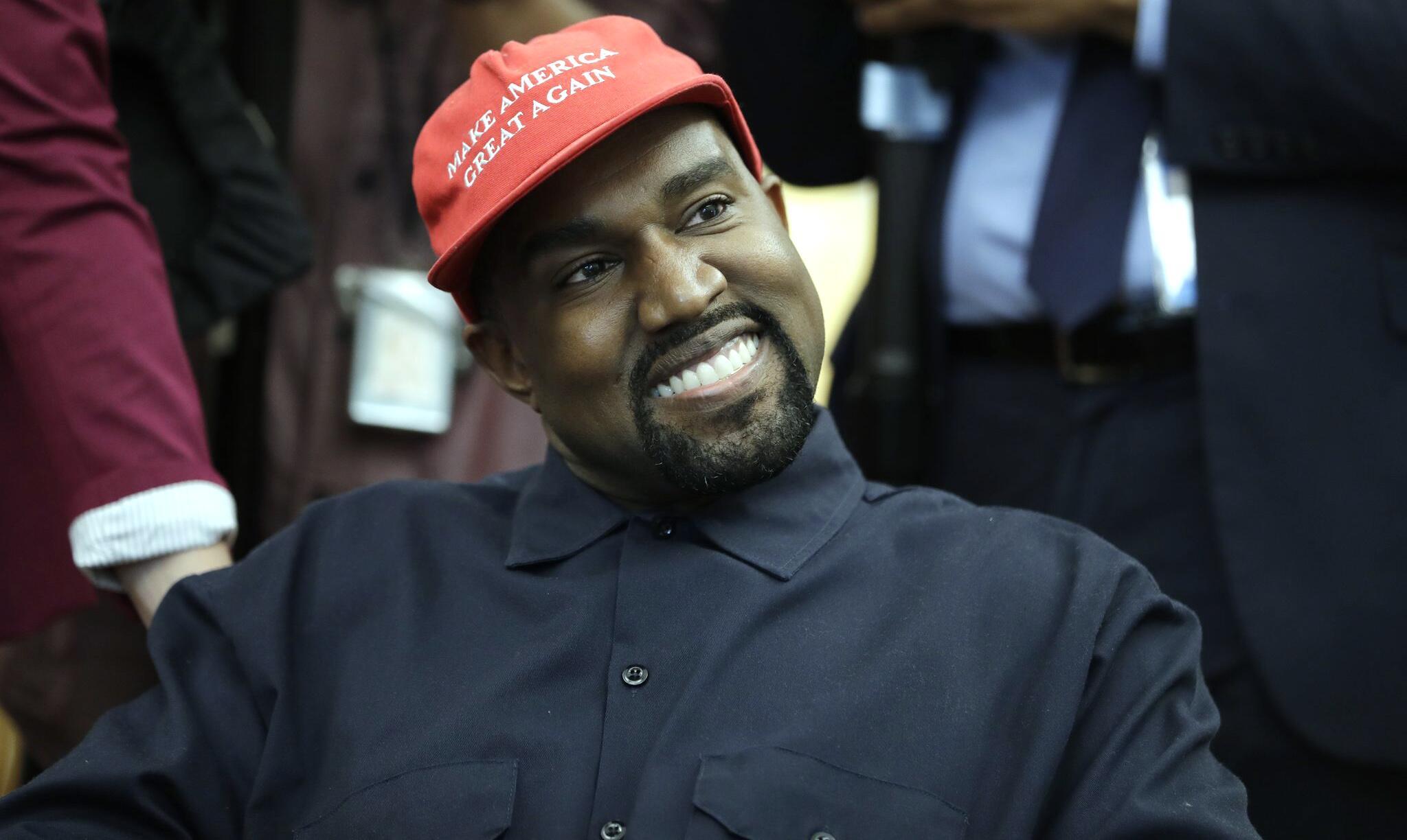 Bild zu US-Rapper Kanye West im Weißen Haus