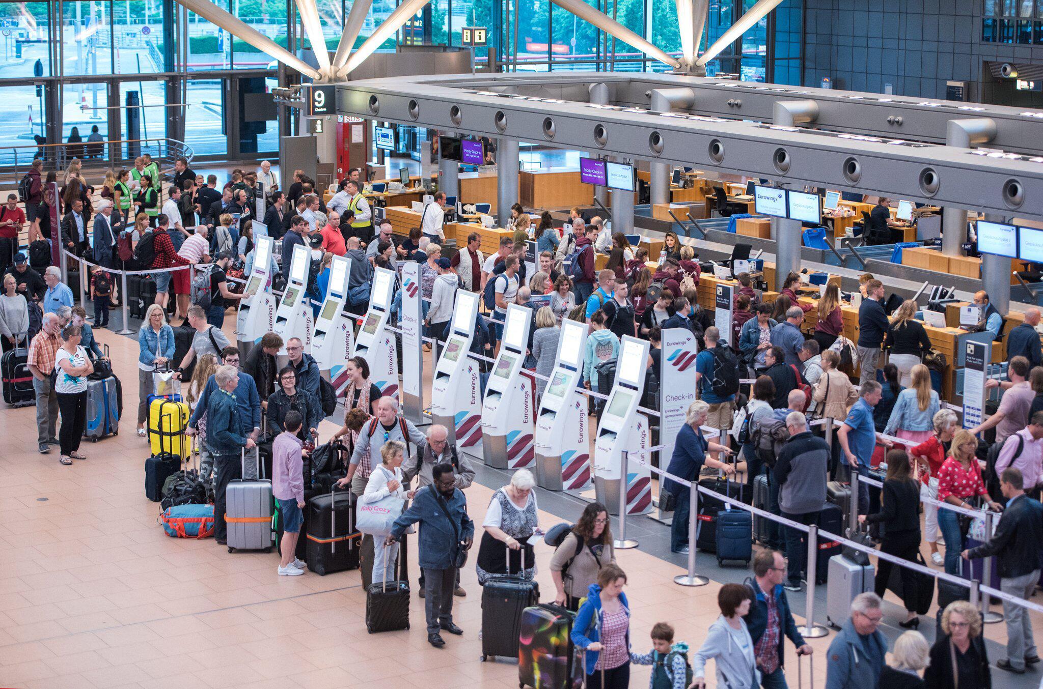 Bild zu Situation am Hamburger Flughafen