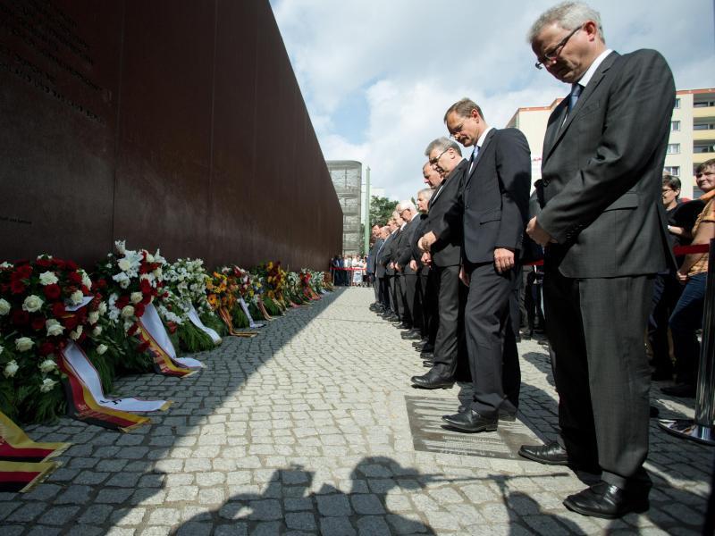 Bild zu Gedenken anlässlich des Baus der Berliner Mauer