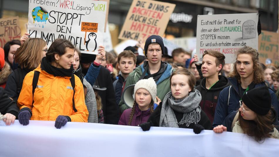 Climate activist Greta Thunberg in Hamburg
