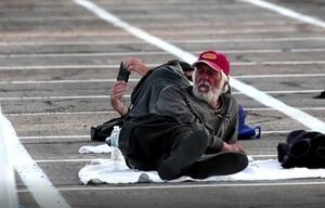 Obdachlose in den USA  - Corona