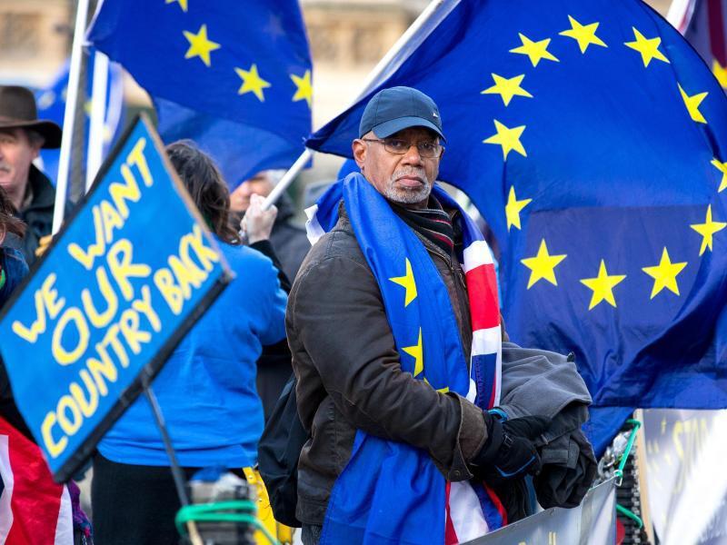 Bild zu Anti-Brexit Demonstration in London